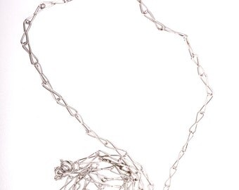 The Basic Wardrobe Vintage Sterling Silver 42 Inch Chain