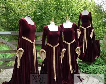 Medieval Gown Lotr Dress Celtic Pagan Handfasting Small-XLrg Bridesmaid Wedding