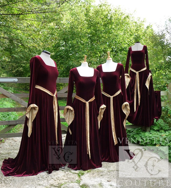 Items Similar To Medieval Gown Lotr Dress Celtic Pagan