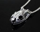 Python Skull  Necklace Silver Python Snake Skull Pendant Necklace Python Skull Jewelry 448