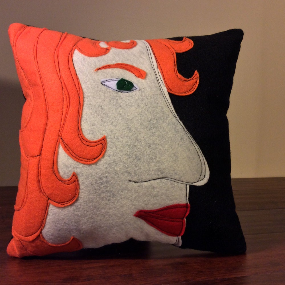 Funky Pillow Face Pillow Redhead Funky throw pillow