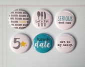 Very Merry Flair Badges : Foodie Food Lover Set