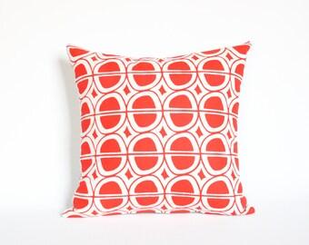 Avocat - housse de coussin - mid century taie d'oreiller motif moderne, décor graphique à la maison, coussin accent rouge, gras géométrique, salle de séjour mise à jour