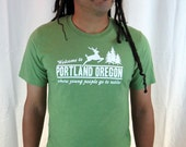 Portland, Where Young People Go to Retire tshirt