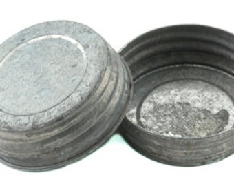 Old Fashioned Mason Jar Lids - Set of 6