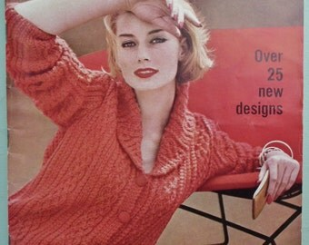 Vogue Knitting Book No 59 1961  - Vintage 1960s Knitting Patterns Womens Jumpers Sweaters Cardigans Suits 60s original patterns