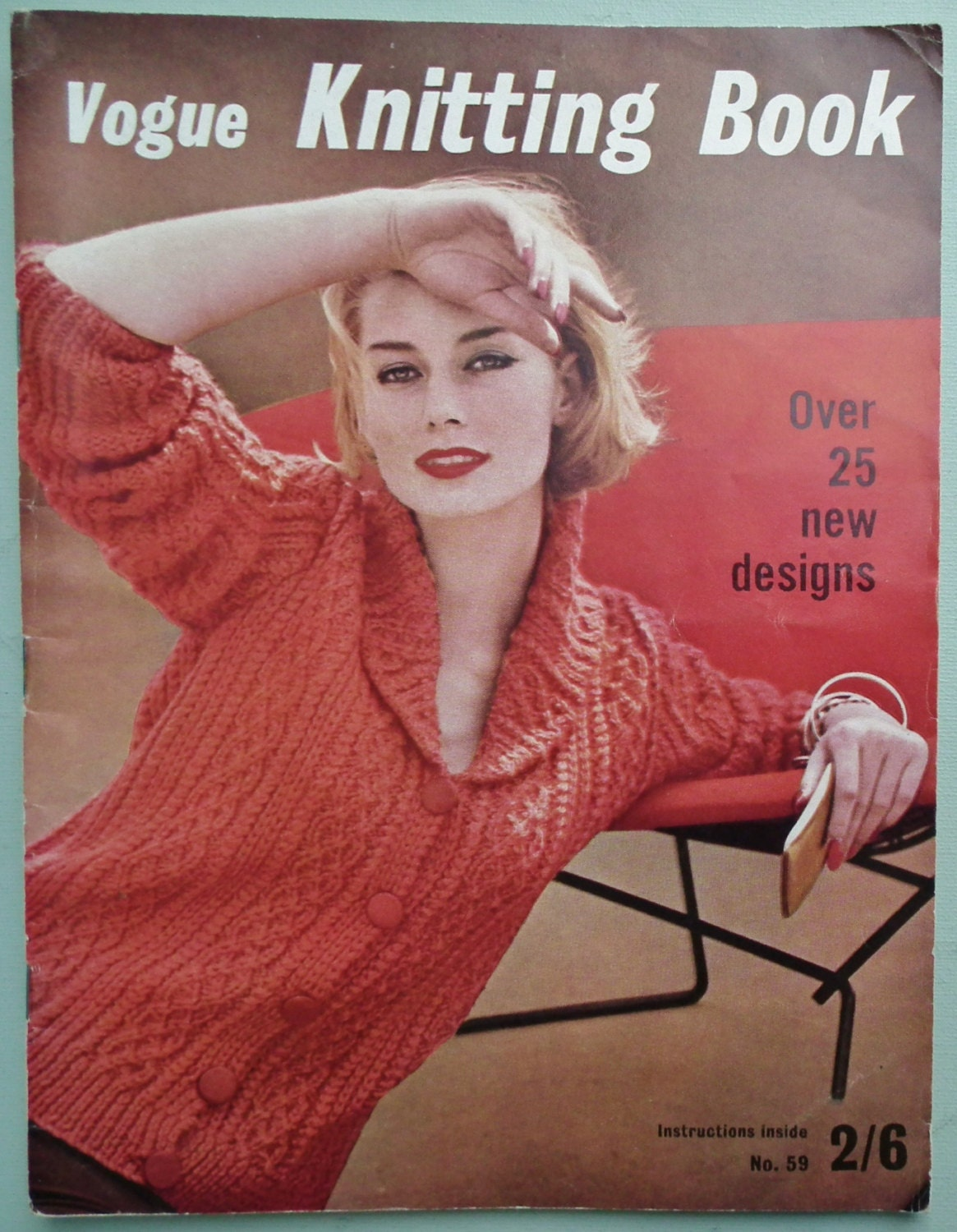 Vogue Knitting Book No 59 1961 Vintage 1960s by sewmuchfrippery