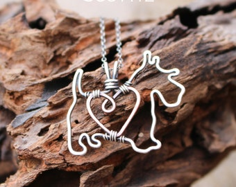 Scottie Dog Necklace, Custom Dog Necklace, Sterling Silver Dog, Dog Outline, Wire Jewelry