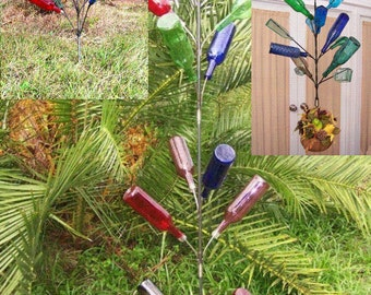 Wholesale Big Wine Bottle Tree Gift Bundle  6 Southern USA Made Decor Art Garden Yard Solid Steel Bottle Trees EZ Install