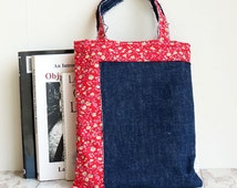 Child Tote Bag | Denim Tote | Small Lunch Bag | Girls Handbag
