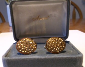 Designer cufflinks,Goldtone Anson Cufflinks