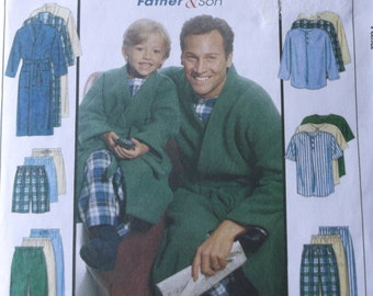 Boy's Pajama Pants,Shorts,Top,and Robe Pattern,Mccalls M6236 Boys Size 3-8 Easy Endless Options