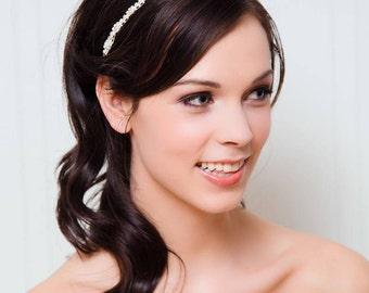Rhinestone Bridal Headband | Bridal Headpiece | Crystal Wedding Hairband [Moonlit Frost Hairband]