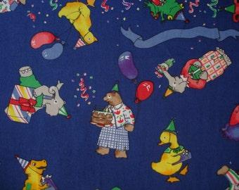 ANIMAL PARTY Fabric - 1 Yard Nicole De Leon for Alexander Henry Rare - #K9