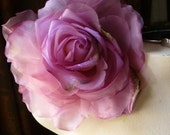 SALE Silk and Organza Rose in Deep Pink for Bridal, Derby, Ascot, Bouquets, Hats MF 137 - 4918