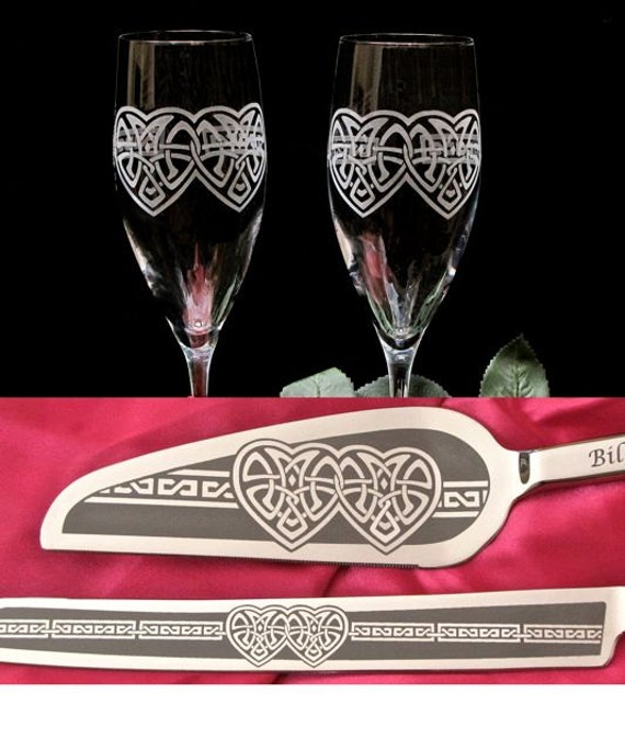 irish wedding cake servers celtic knot wedding cake server champagne flute set 16483