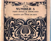 Silver Song Series No. 8/1900 - Songs & Choruses for 8th and 9th Grades - Excellent Cond/Music Songbook