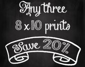 Choose Your Own Set of Three 8x10 Prints - Save 20% on Set of Three Fine Art Photographs - Dreamy Photography - Personalized Home Decor
