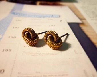 Knot Rope Stud Earrings