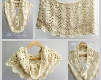 Crochet Shawl PATTERN - Lacy - Shawl Pattern - Multiple Sizes