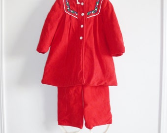 Vintage Red Girls Winter Jacket