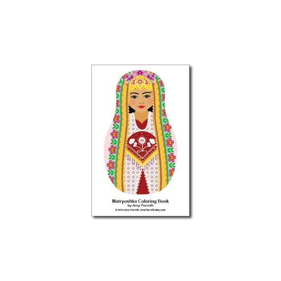 Matryoshkas (K) Mini Coloring Book Printable file