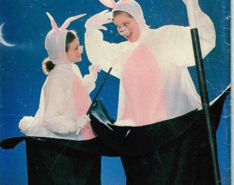 Misses Men Bunny Rabbit in Top Hat Halloween Costume Butterick 6849 Sewing Pattern Adult Unisex Size Fits All