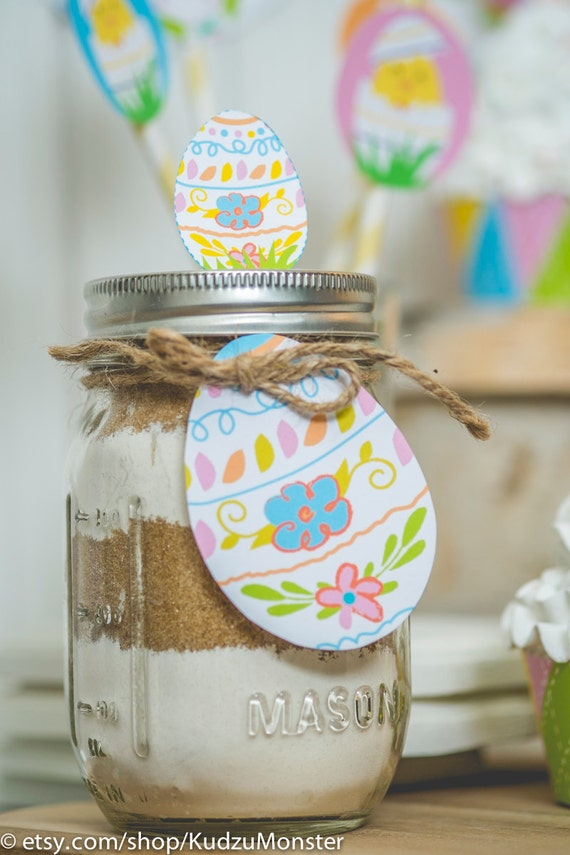 Easter printable mason jar gift tag and label kit includes easter il570xn negle Image collections