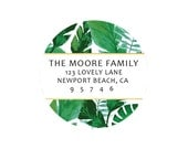 Personalized Return Labels by Pretty Smitten - PALM LEAF Collection