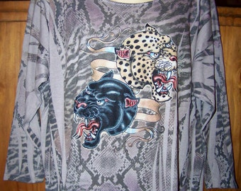 Plus Size 3x, Women's Plus Size Clothing, Plus Size Clothing, Plus Size Animal Print, Cougar, Plus Size, Panther, Plus Size Knit Shirt, Plus