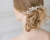 Wedding Hair Accessories, Bridal Hair Comb , Pearl Hair Piece, Pearl Hair Comb, Gold Wedding Hair Comb, Bridal Accessory