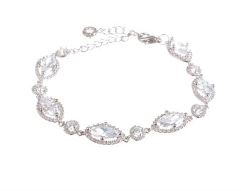 Wedding Bracelet , Crystal Bracelet , Crystal Bridal Bracelet , Bridesmaid Bracelet , Bridal Jewelry
