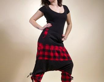 """harem pants Scottish and black woman """" Punishment"""" ninja pants"""