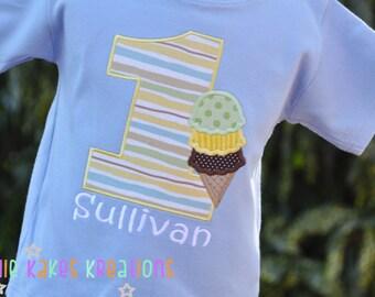 Ice Cream Shirt - Ice Cream Birthday Party - Ice Cream Birthday Party - Personalized Shirt - Ice Cream Cone - Ice Cream Party