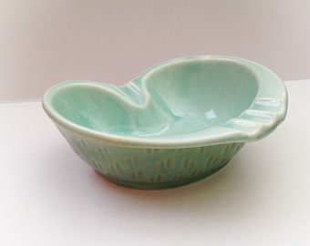 Vintage  Robin Blue Ashtray Ceramic