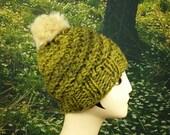 Olive Puff Hat