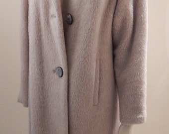 Coupon 20% Sale ALPACA Wool Coat Huge Collar Perfect condition Womens size 8-10