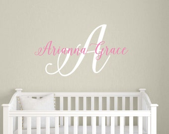 Baby Name Decal, Childrens Name Wall Decal, Childrens Wall Sticker, Baby Name for Nursery