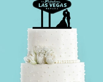 vegas wedding cake toppers vegas cake topper etsy 21575