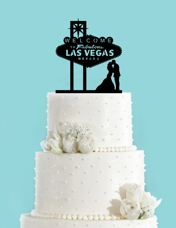 Las Vegas Sign Wedding Cake Toppers
