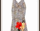 Rockabilly Pin up Girl Tiki Leopard Lingerie Nighty ....Size M