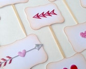 Hearts & Arrows - Cupcake Toppers/Party Sticks