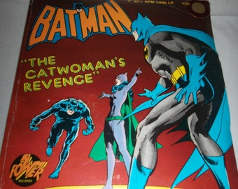 "Rare SEALED 1975 Power Records Peter Pan BATMAN ""The Catwoman's Revenge"" 7""  33 1/3 RPM Little Lp New"