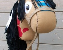 """MADE to ORDER Classic Collection """"Flint"""" Indian War Horse Stick Horse or Pony Ready to Ride"""
