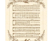 GREAT Is THY FAITHFULNESS - 8x10 Antique Hymn Art Print Natural Parchment Sepia Brown Ink Vintage Verses Sheet Music Morning Mercy
