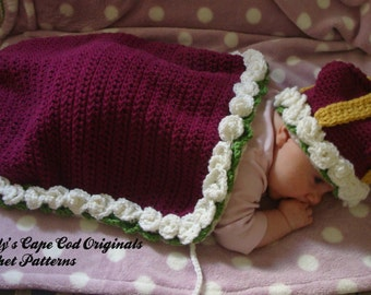 Crochet Royal Photo Prop Robe and Crown Set 733PDF Crochet Pattern