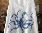 Kraken Octopus Tank Top American Apparel  S   M   or   L