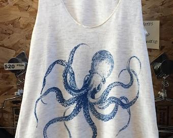 Kraken Octopus Tank Top American Apparel     XS S M L