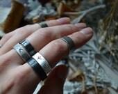 Rune Weaver Silver Knuckle Ring - fehu