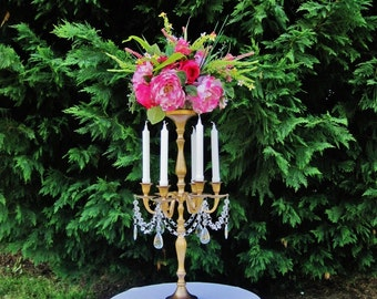 Princess Arabella Tall Taper Style Wedding Candelabra MADE TO ORDER